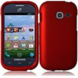 Generic Hard Cover Case for Samsung Galaxy Centura S738C - Retail Packaging - Red