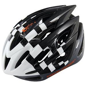 ドッペルギャンガー ヘルメット DH006 インモールド 自転車用 ブラック/ホワイト M-XL