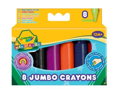 Crayola - Boîte de 8 maxi crayons en cire