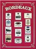 FRENCH VINTAGE METAL SIGN 20X15cm BORDEAUX WINE France - M137