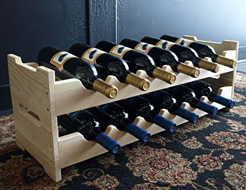 Wine Racks America® Kitchen Rack in Ponderosa Pine. Scalloped Style Wine Rack with 13 Gorgeous Stains to Choose From! Capacity: 12 Bottles