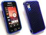 EMARTBUY SAMSUNG S5230 TOCCO LITE HEXAGON PATTERN GEL SILICON CASE/COVER/SKIN DARK BLUE