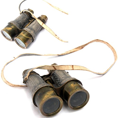 Collectibles Buy Antique Victorian Leather Covered Brass Binocular Finish 1