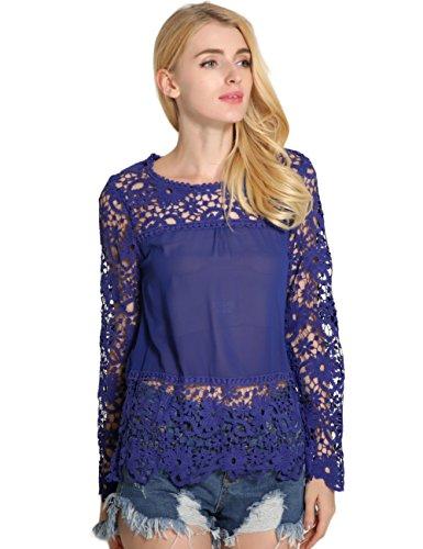 SunIfSnow - Camicia - Basic - Maniche lunghe  -  donna Dark Blue XXX-Large