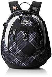 High Sierra 5420-31 19.5x13x7-Inch Fat Boy Backpack (Black Plaid)
