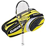 Babolat 2013-14 Aeropro Drive GT Strung with 6 Racquet Tennis Bag by Babolat