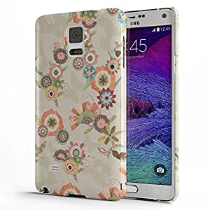 Koveru Designer Printed Protective Snap-On Durable Plastic Back Shell Case Cover for Samsung Galaxy Note 4 - Flower Art