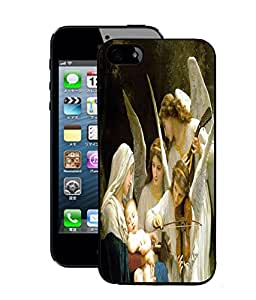Fuson 2D Printed Lord Mother Merry with Jesus Designer Back Case Cover for Apple iPhone 5 - D540