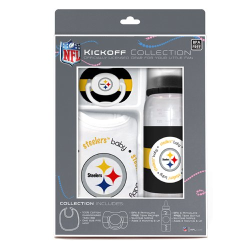 Baby Fanatic NFL Pittsburgh Steelers Baby Fanatic Baby Fanatic Gift Set