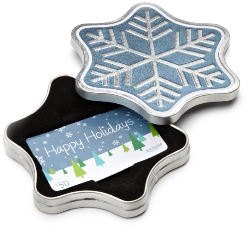 amazoncom-50-gift-card-in-a-snowflake-tin-happy-holidays-card-design