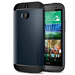 Spigen Slim Armor Cover Case for HTC One - Metal Slate