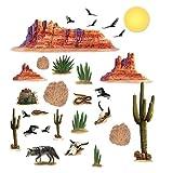 <gu48342> Lote de 12 manteles individuales 29 decors desert adhesivas
