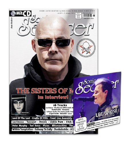 Sonic Seducer 06-14 mit The Sisters Of Mercy-Titelstory + CD mit über 77 Minuten Spielzeit, Bands: Lacrimosa, Lord Of The Lost, Within Temptation, Deathstars, Subway To Sally u.v.m.