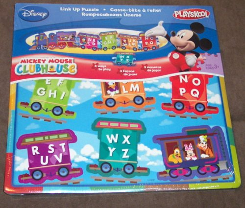 Picture of PLAYSKOOL MICKEY MOUSE CLUBHOUSE LINK UP PUZZLE (B001MYAC0G) (Floor Puzzles)