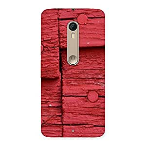 Delighted Nailed Red Wood Designer Back Case Cover for Motorola Moto X Style