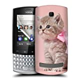 Head Case Kitten With Pink Bow Cats Snap-on Back Case Cover For Nokia Asha 303
