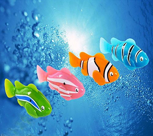 NEW! Robofish Activated Battery Powered Robo Fish Toy Childen Kids Robotic Pet hot sale (Pink, 7cm) (Electronic Water Toys compare prices)
