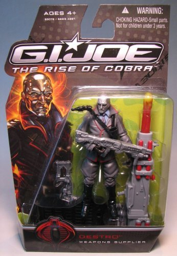 GI Joe Movie Series The Rise of Cobra 4 Inch Tall Action Figure Destro Weapons Supplier