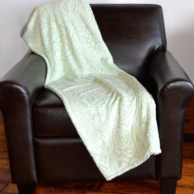 Lasercut Embossed Throw Color: Thyme