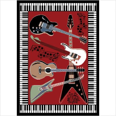 "Zone Red Novelty Rug Size: 3'7"" x 5'2"""