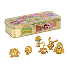 Moshi Monsters Golden Collection Tin Limited Edition With 6 Figures New Series