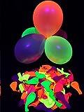 Toy - 50er-Pack PSYWORK Schwarzlicht Luftballons Neon Gemischt