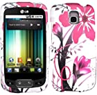LG Optimus T P509 / LG Phoenix P505 / LG Thrive P506 Phone Case Accessory Delicate Pink Flower Splash Hard Snap On Cover with Free Gift Aplus Pouch