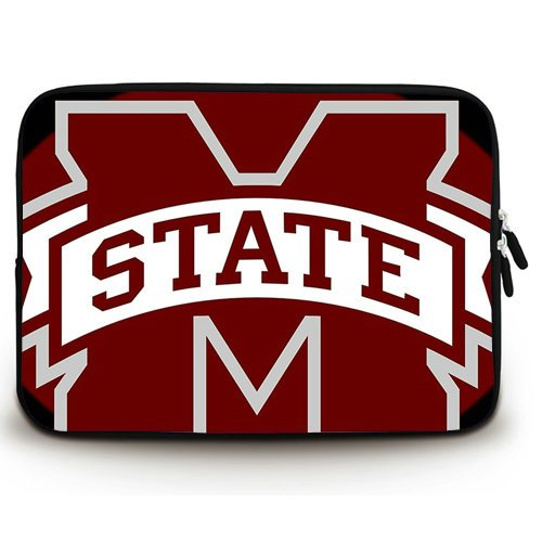 HUADO New Style Mississippi State Bulldogs() Laptop Sleeve Portable Laptop Carrying Bag Twin Sides Patterns Waterproof Canvas Fabric Case for 15 15.6 Inch Laptop (Bulldog Laptop Case compare prices)
