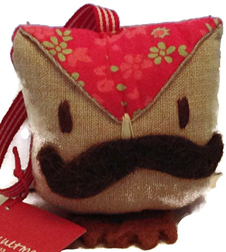 crate-barrel-owl-with-mustache-ornament-approx-3-in-by-3-in-in-size-with-brown-feet-and-pink-print-o