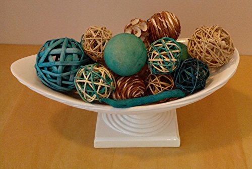 Jodhpuri Inc. Decorative Spheres (Aqua) Rattan Vase Filler