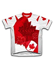 Canada Art Short Sleeve Cycling Jersey for Women