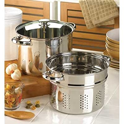 Home Kitchen Pasta Cooker Cookware Set Stainless Steel Restaurant Specialty Healthy Best Strainer W/ Lid Cast Iron Cookware