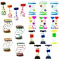 Mememall Fashion Spinning Dripping Zig Zag Liquid Motion Timer Oil Toy Multi-Color Autism Lot Box