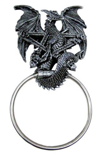 Dragon & Pentagram Bathroom Towel Holder Hanger