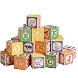 Uncle Goose French Alphabet Wooden Blocks - Made in the USA