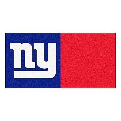 FANMATS NFL New York Giants Nylon Face Team Carpet Tiles