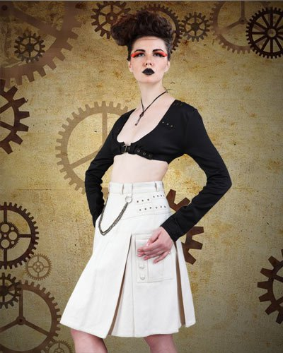ThePirateDressing Steampunk Victorian Abigale Dieselpunk Blouse (Medium)