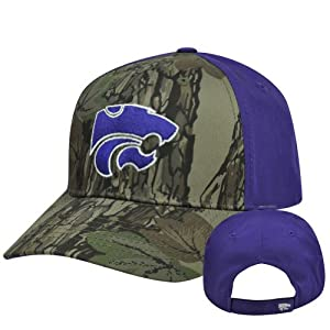 Buy NCAA Kansas State Wildcats Freshman Camouflage Adjustable Curved Bill Hat Cap by Captivating Headgear