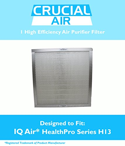 Crucial Air Hepa Air Purifier Filter Fits IQAir® HyperHEPA® Type 12/13 Air Purifier Filter, Fits HealthPro® , HealthPro® Plus & HealthPro® Compact, Compare to IQAir® Part # 102-14-14-00, Filter # 3 (F3), Designed & Engineered By Crucial Air