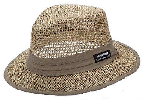 Panama Jack Matte Seagrass Safari Hat (Large, Natural) (Panama Jacks compare prices)