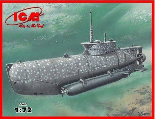 U-Boat Type XXVIIB Seehund (Early) German Midget Submarine 1-144 ICM Models