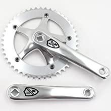 EighthInch Fixed Gear Track Courier Crankset Silver 170mm Single Speed