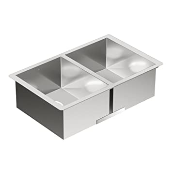 Moen G18288 1800 Series 18-Gauge Single Bowl Undermount Sink, Stainless Steel
