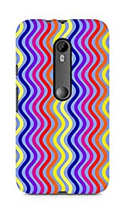Amez designer printed 3d premium high quality back case cover for Motorola Moto G3 (Retro Pattern5)