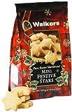 Walkers Shortbread Mini Festive Stars, 4.4-Ounce (Pack of 6)