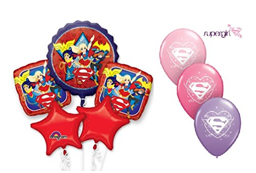 DC-SUPER-HERO-GIRLS-Balloon-Bouquet-8-Balloons-Party-Decorations