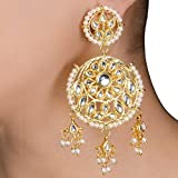 Floral Jhalar Kundan Earrings