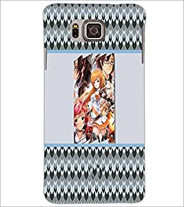 PrintDhaba Girls D-4275 Back Case Cover for SAMSUNG GALAXY ALPHA (Multi-Coloured)