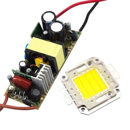 Lohas 30W 110~240V Led High Power Light Lamp Chip + Led Power Supply Driver Cool White
