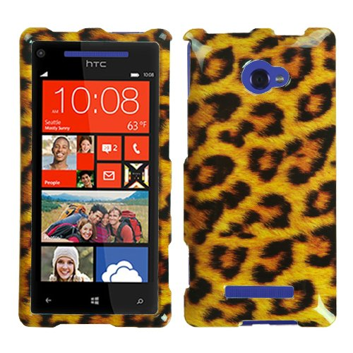 MYBAT HTCWIN8XHPCIM206NP Slim and Stylish Protective Case for HTC Windows Phone 8X - 1 Pack - Retail Packaging - Leopard Skin (Htc Windows 8x Case compare prices)